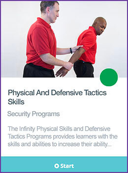 Physical and defensive tactics course card.